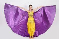 ingrosso ali d'argento-Costumi di danza indiana ad ali di danza del ventre in argento dorato con ali di danza del ventre per adulti