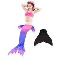 Wholesale bikinis 12 years resale online - Fashion Piece Bikini Mermaid Tail Set Maillot De Bain Kids Swimwear Children s Swimsuits Girls To Years Old