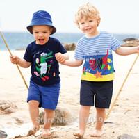 ingrosso vestiti di marca bebe-Set di vestiti per neonati Nuovo 2019 Set di vestiti per bambini estivi 100% cotone di qualità del marchio Bebe T-shirt a maniche corte Pantaloni Abito per bambini