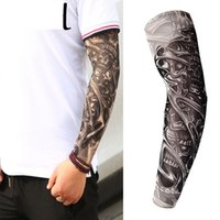 Professional Sale Anti-sunshine Fashion Men And Women Tattoo Arm Leg Sleeves High Elastic Nylon Halloween Party Dance Party Tattoo Sleeve Men's Accessories