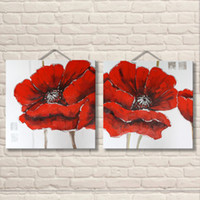 Wholesale handmade wall decor painting for sale - 100 Handmade Price Drop Shipping Cheap Abstract Oil Painting Beautiful Flower Picture Panels Wall Art Home Decor