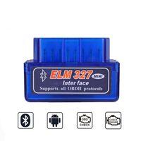 adaptador obd obd2 al por mayor-OBD2 ELM327 V1.5 Escáner PIC18F25K80 Adaptador Bluetooth V 1.5 ELM 327 Mini Escáner Herramienta de diagnóstico OBD 2 Escáner automático