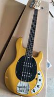 satılık çin bas toptan satış-Altın Music Man Ernie Topu Sting Ray 4 Strings Bas Gitar 9V Pil Aktif Pikap Elektro Gitar Gülağacı