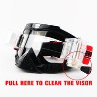 óculos claros atv venda por atacado-Óculos de marca Dirt Bike ATV Cross Riding Ski Motocross Óculos Motor para Motocicleta UV Ski Snowboard Goggles Lens Lens Clear