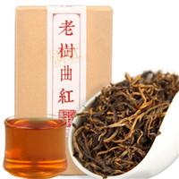 nadeln china großhandel-China Yunnan dian Hong Schwarzer Tee Chinesischer Geschenkkarton Tee Frühling feng Qing Duftendes Aroma Goldener Ast von Kiefernadel roter Tee