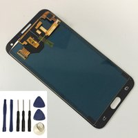 touchscreen lcd-display-modul großhandel-Einstellbare Helligkeit für Samsung Galaxy E7 E700 E700 E700 E700 E7009 Touchscreen + LCD Display Modul Assembly + Kostenlose Tools