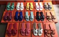 Wholesale tan tie resale online - 2019 New Fashion slide sandals slippers women slipper WITH ORIGINAL BOX Hot Designer Hand made Size With box