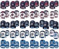 buz hokeyi formalarını gençler toptan satış-Winnipeg Jets Formalar Mens 29 Patrik Laine Jersey 81 Kyle Connor 37 Connor Hellebuyck Bayan Buz Hokeyi Formalar Dikişli Gençlik