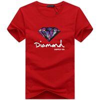impresiones de obras de arte famosas al por mayor-Moda camiseta de diamante hombres mujeres vestir 2019 Casual manga corta camiseta hombres diseñador de la marca de verano camisetas