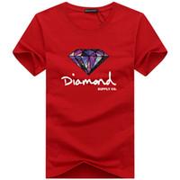 diamant t-shirt frauen großhandel-Mode t-shirt diamant männer frauen kleiden 2019 Casual kurzarm t-shirt männer Marke designer Sommer t-shirts
