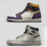 daim violet chaussures femmes achat en gros de-Nouveau SB x 1 Haute OG Court Pourpre Lumière Bone Chaussures De Basket-ball pour Hommes Femmes 1s SB Sports Lakers Sneakers CD6578-507 Avec Boîte