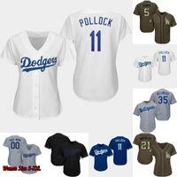 camisetas de béisbol juvenil al por mayor-Dama y juventud Los Ángeles 5 Corey Seager 10 Justin Turner 21 Walker Buehler 22 Clayton Kershaw 35 Cody Bellinger Dodgers Camisetas de béisbol