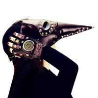 engraçado fantasia vestido para homens venda por atacado-MISSKY Homens Engraçado Peste Pássaro Bico Doutor Máscara para o Dia Das Bruxas Cospaly Partido Fancy Dress Presente Da Bola