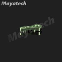 Wholesale metal steering servo resale online - Mayatech T standard servo metal steering arm GREEN thickening batch customizable JR CNC Metal Actuator Swing Arm