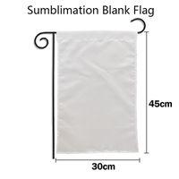 30*45cm Sublimation Blank Flag Double Sided Heat Transfer Garden Banner DIY Trump Biden Flags Decor Home