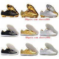 Wholesale turf mens resale online - 2019 mens soccer cleats Tiempo Legend R10 Elite FG soccer shoes Legend VII IC TF Indoor Turf football boots Tacos de futbol