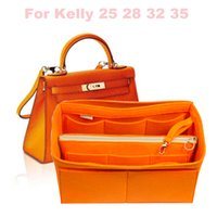ingrosso stile borsa dell'organizzatore della borsa-Per Kell (y 25, 28, 32, 35) Organizer per borsa e portamonete stile base con tasca staccabile con zip, feltro 3MM (fatto a mano / 20 colori)