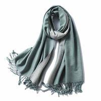 Wholesale long hijab shawl resale online - Cashmere Scarf Women Ladies Winter Warm Soft Shawl Girls Solid Tassel Pashmina Long Hijab Scarves Top Quality