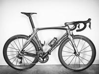 bicicleta de fibra de carbono preta fosca venda por atacado-RB1K o um Novo preto colorido 700C bicicleta Da Estrada fosco 3 K fibra de carbono completo quadro de bicicleta garfo de carbono + selim + braçadeira + fones de ouvido Frete grátis