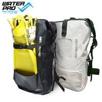 aletas de água venda por atacado-Água Pro Impresso 40L Saco Seco Saco À Prova D 'Água Mergulho Aletas Esportes Aquáticos Ajustáveis Mergulho Snorkeling