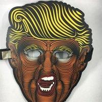 halbschablone schmetterling großhandel-Beliebte schmetterlingsförmige Halbmaske für Erwachsene Amerika Präsident Donald Trump 2020 Leuchtmasken Party Halloween Dekoration 33qy E1