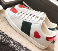 Wholesale dark dog resale online - Mens Women Shoes Sneakers Loafers Designer Luxury White Embroidery Bee Tiger Head Snake Fruit Dog Casual Flat Unisex Presto Trainers