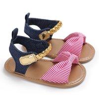 ingrosso modello di sandali del bambino-Moda dolce bambino estate nuovo stile bambino ragazze bambino dolce fiocco scarpe sandali scarpe casual carino Dot Pattern