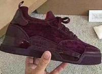 sapatilhas diretas da fábrica venda por atacado-Sapatos casuais diretos da fábrica hot Aurelien Sneakers Flat Women, Homens Sapatos de Fundo Vermelho Qualidade Perfeita Qualidade Casual Ao Ar Livre Trainer Presente Perfeito C152