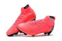 tacos de fútbol rosa al por mayor-Mens calientes FG Botas de fútbol Neymar Limited CR7 Shuai 360 Superfly VII Victoria Zapatos Tacos de fútbol FG rosa del fútbol