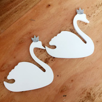 Wholesale pink clothes hangers for sale - Group buy 1 piece Cute pink crown swan wooden clothes hook for kids room wall decorate children room ECO hanger hook