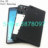 Wholesale xperia battery cover for sale – best For Sony Xperia E3 D2203 D2206 D2202 Battery Cover Back Rear Door Housing Case LCD Middle Chasis Frame Plate