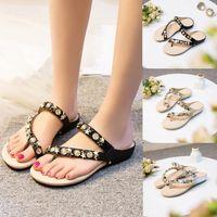 SAGACE Shoes Flip flops Fashion Rhinestone Flat Heel Anti Skidding Beach  Sandals Slipper casual shoes women 2018MA14 cb3120b04bb0