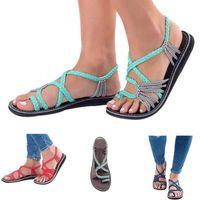 ingrosso sandali della cinghia delle ragazze-Sandali estivi piatti sandali infradito sandali con tacco basso per le donne, ragazza junior