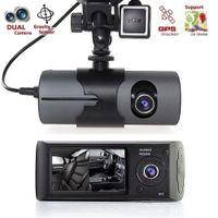 cámara de visión nocturna del vehículo al por mayor-Cámara del coche DVR HD 1080P DVR Grabador de Dash Cam Vista trasera del vehículo con doble objetivo videocámara de la cámara de visión nocturna dashcam
