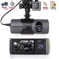 ingrosso macchina fotografica del trattore del veicolo pieno hd-Macchina fotografica dell'automobile DVR HD 1080P DVR Recorder Dash Cam veicolo vista posteriore Dual Lens Videocamera di visione notturna dash cam
