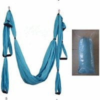 Wholesale trapeze swing resale online - m m Elastic Exercise Yoga hammock Aerial swing anti gravity Yoga belt Inversion Trapeze hanging gym traction YHM001