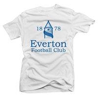 shorts de foot everton achat en gros de-Everton Basic Logo Soccer Tee haute qualité livraison gratuite pas cher en gros 2018 Manches courtes, O-Cou 100% Coton, Imprimer Mens Summer