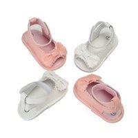 primer zapato bajo al por mayor-Artificial PU Zapatos recién nacidos Tubo bajo Casual Princesa First Baby Girls Walkers Niños resistentes al desgaste para niños pequeños