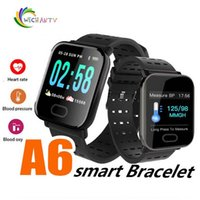 ingrosso intelligenza delle mele-A6 Smart Watch Uomo Donna Intelligence Fitness Braccialetto Tracker Cardiofrequenzimetro IP67 Smartwatch impermeabile per Android iOS