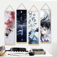 ahşap tuval sanatı toptan satış-Tuval Wall Art Modern Nisan Anime kaydırır Kız Yatak Odası Posterler Ev Dekorasyon Your Lie Asma Katı Wood Boyama Baskılı