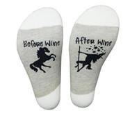 yabancı çoraplar toptan satış-Şarap Önce / Sonra Şarap Pony Sarhoş Pamuk Casual Dış Ticaret Çorap yeni stil moda ücretsiz gönderim Ofset
