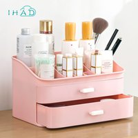 Wholesale filing boxes resale online - Drawer makeup Organizer Cosmetic Storage box Home Desktop classification Container Multi layer office file Sundries Storage case