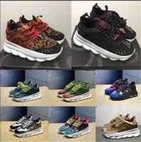 zapatos deportivos de tacón al por mayor-Tacones inferiores de reacción en cadena clásicos Hombres Zapatos de diseñador de lujo para hombres Mujeres Zapatillas de deporte para mujer Zapatos de moda casual Zapatillas con polvo