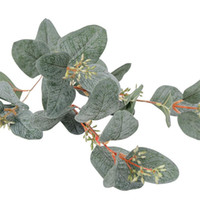 seide rosen blumen lila großhandel-Künstlicher Beeren-grüner Eukalyptus verzweigt sich gefälschtes Frucht-Blatt für das Hauptgeschäft, das Blumengesteck-Dekoration Wedding ist