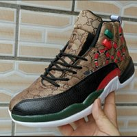 Wholesale cycling shoes 12 resale online - 12 GS Generation of snake Black Brown Red Men Basketball Shoes New style s Mens Snakeskin Multicolor Sport Designer Sneakers With box