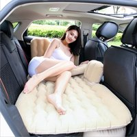 Wholesale inflatable car air mattress for sale - Group buy 2019 Car Air Mattress Travel Bed Inflatable Mattress Air Bed Inflatable Car Bed Car Back Seat Cover Inflatable Sofa Cushion