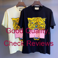 Summer T Shirt For Women Mens Tshirts With Letters Animal Printted Fashion Short Sleeve Lady Tee Shirt Casual Tops Clothing 2 Colors M-2XL