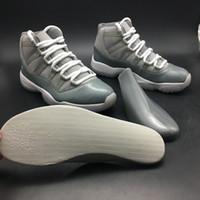 ingrosso scarpe da moda high street-Cool grigio scarpe da basket 11 11s uomo grigio moda Street Outdoor Sport Sneakers scarpe di design di alta qualità