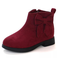 Wholesale new sweet boots for sale - Jgvikoto Autumn Winter Fashion New Rubber Boots For Girls Kids Ankle Boots With Big Bow knot Princess Sweet Children Shoes Y190523