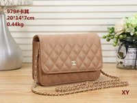 Wholesale metallic linen fabric resale online - 2019 New F Fashion Messenger Bag Designer Shoulder Bag Chain Handbag Luxury Messenger Bag Purse Ladies Handbag